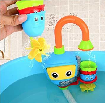 ブルー (Toy Lob) お風呂 おもちゃ 水遊び シャワー バストイ ウォーター 噴水 お風呂玩具 子供 幼児 赤ちゃん _画像8