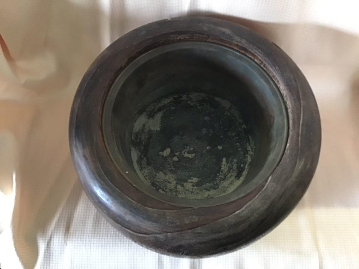 本金、銀、螺鈿入り蒔絵 桐火鉢一対 No.65_画像7