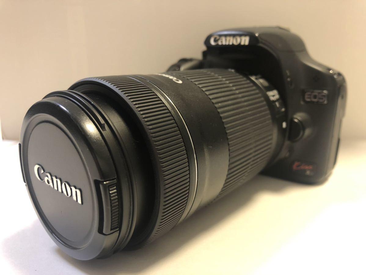 Canon DIGITAL カメラ・KISS X3 + EF-S 55-250mmレンズセット_画像1