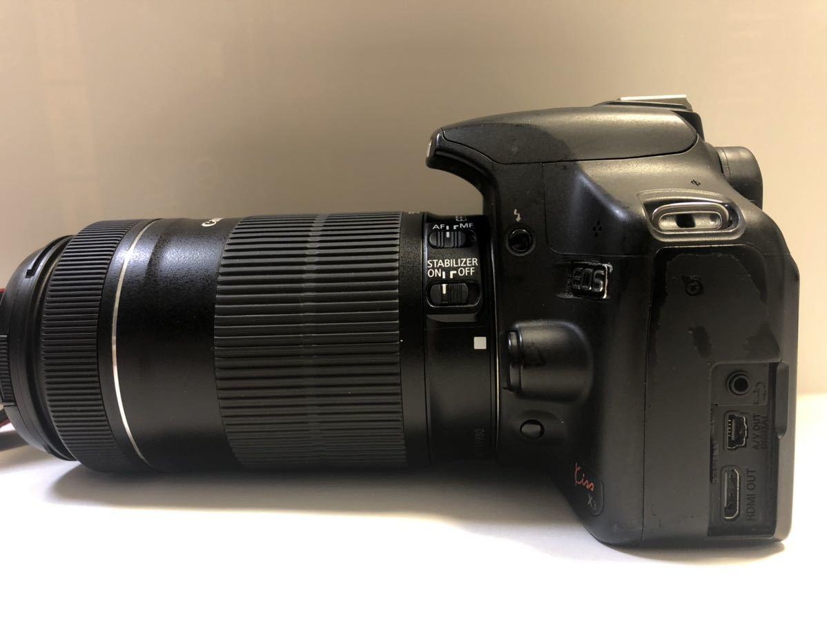 Canon DIGITAL カメラ・KISS X3 + EF-S 55-250mmレンズセット_画像6