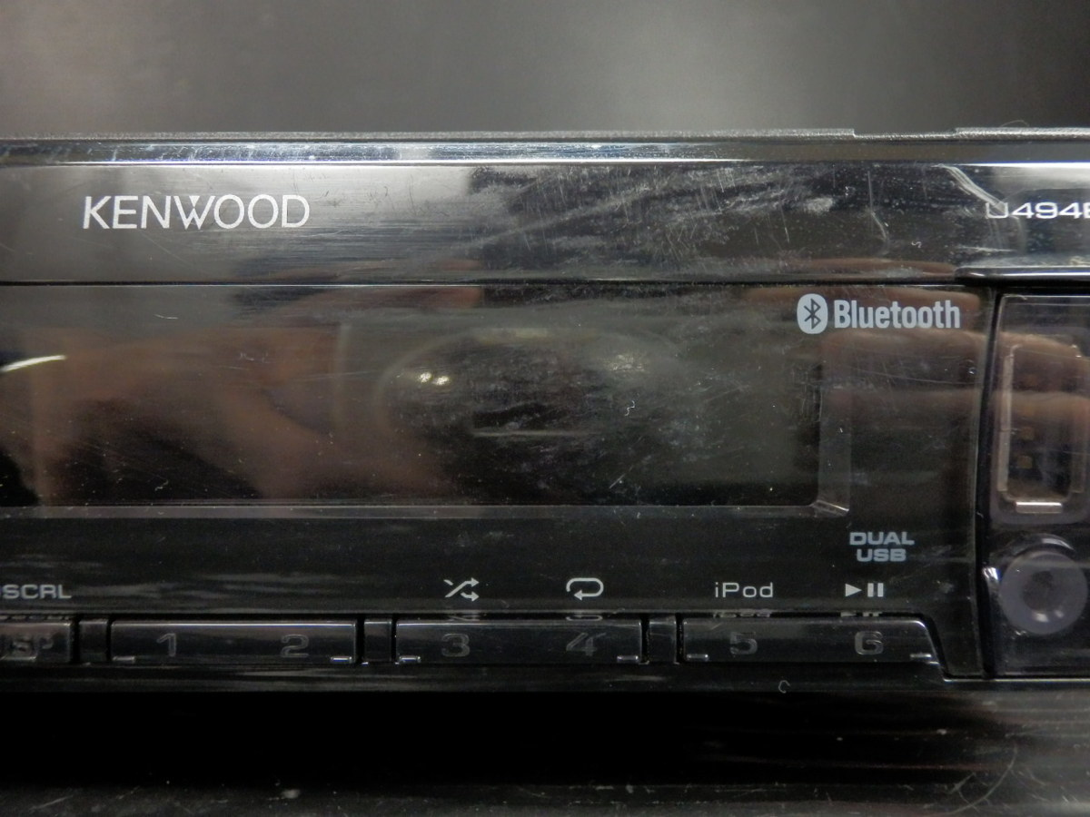 ◆◆ケンウッド KENWOOD U494BT CD USB AUX Bluetooth iPod/iPhone対応 1DIN 31613◆◆_画像10