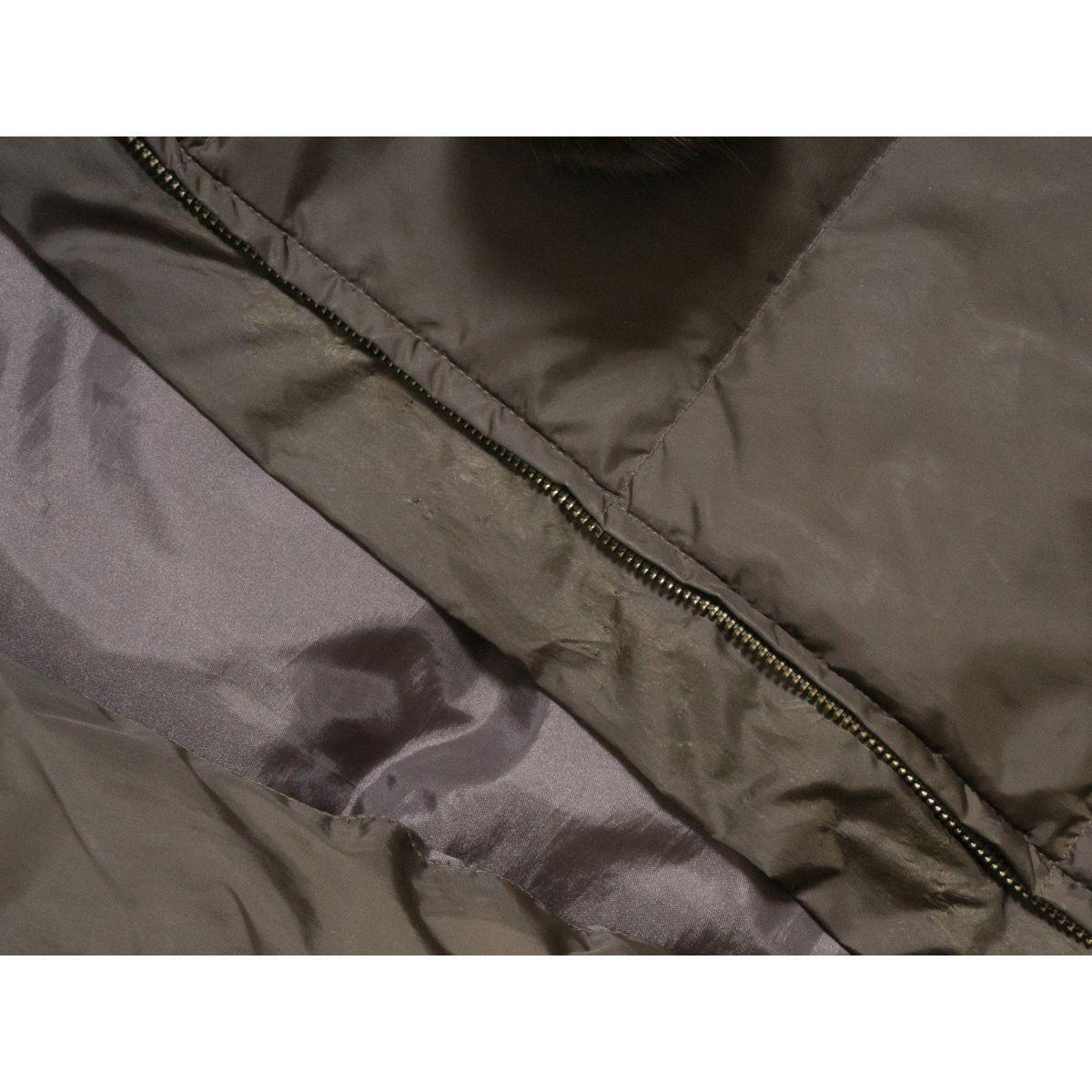 Couture brooch ダウンジャケット リアルファー ラビットファー 防寒 ジャンパー カジュアル かわいい クチュールブローチ 38 カーキ_画像3