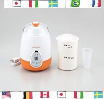 ホワイト×オレンジ サイズ:本体/約幅205×奥行185×高さ205mm タマハシ 「プリマ・ポポ」 ヨーグルト&甘酒メ_画像4