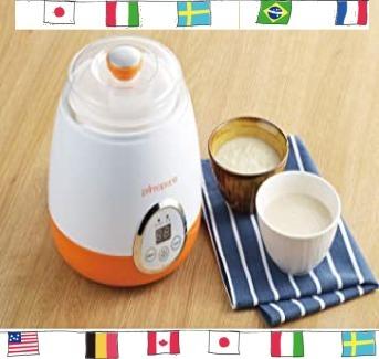 ホワイト×オレンジ サイズ:本体/約幅205×奥行185×高さ205mm タマハシ 「プリマ・ポポ」 ヨーグルト&甘酒メ_画像3
