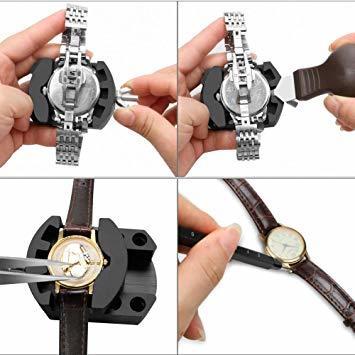 時計修理 電池交換 時計工具 腕時計ベルト調整 バンド調整 時計道具セット 腕時計修理工具 1年保証 収納ケース付き 時計用工具_画像5
