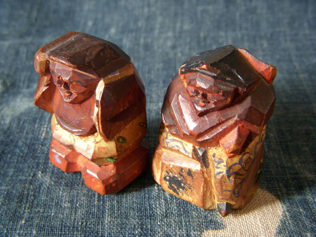 木彫 小さい 恵比寿 大黒_画像3