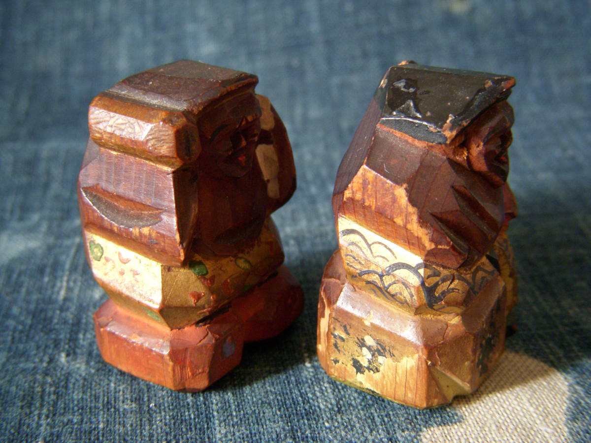 木彫 小さい 恵比寿 大黒_画像5