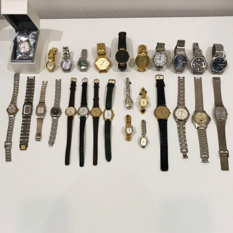 ☆【ジャンク時計まとめ売り】Christian Dior LANVIN courreges SEIKO等含 計27点