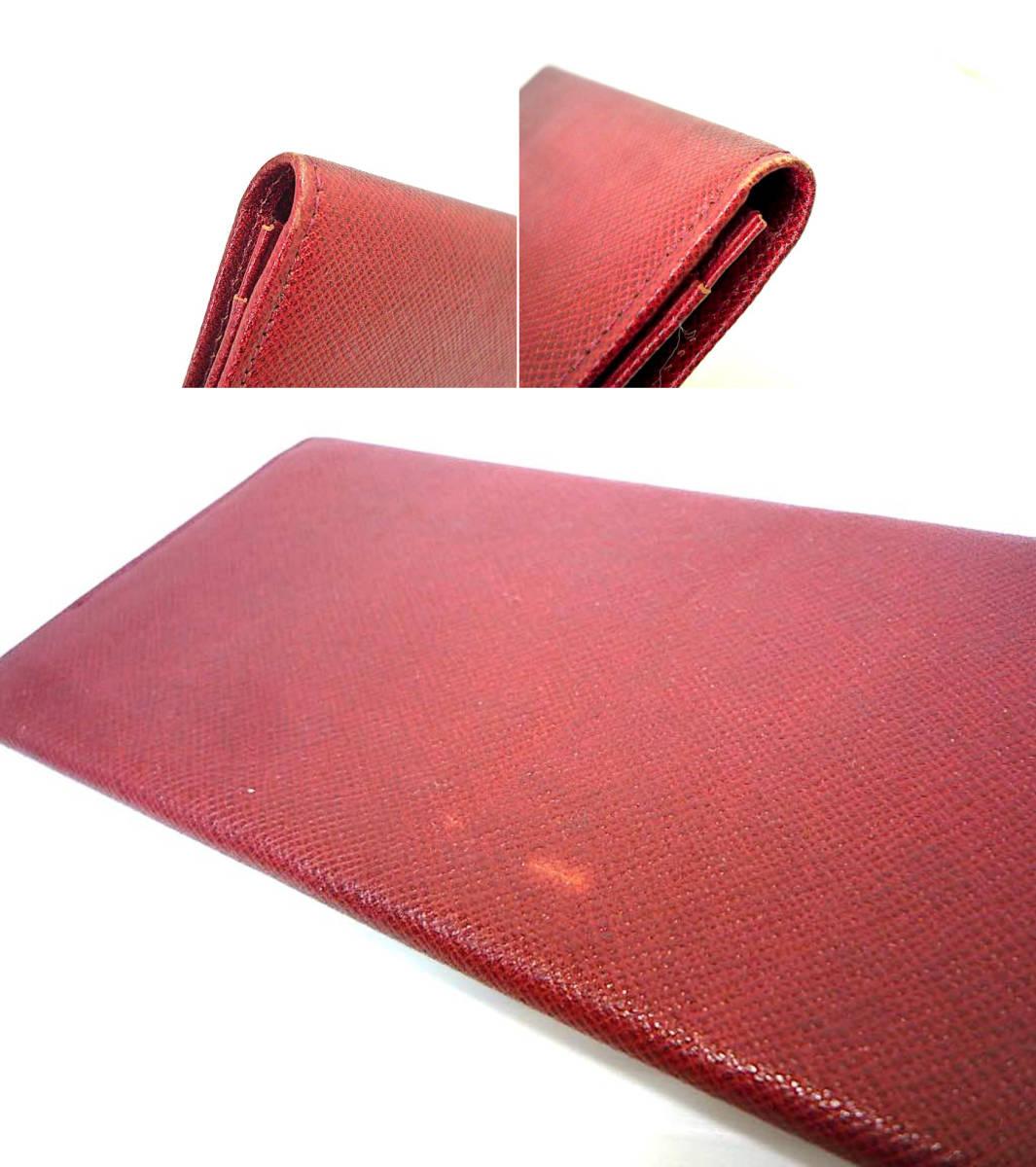新品 デッドストック 時代 西ドイツ MERCEDES-BENZ メルセデスベンツ レザー 長財布 ウォレットケース ワインレッド 赤 薄型 元箱 定形外_※画像をご確認ください。