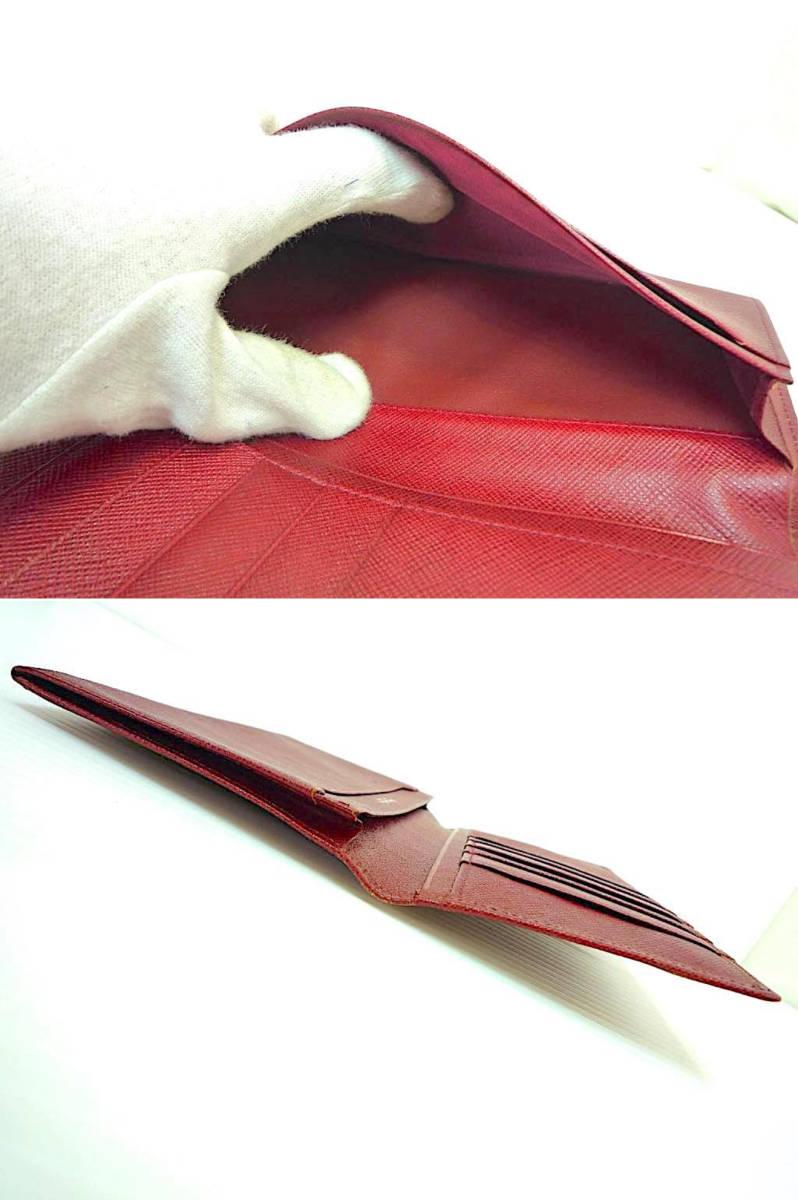 新品 デッドストック 時代 西ドイツ MERCEDES-BENZ メルセデスベンツ レザー 長財布 ウォレットケース ワインレッド 赤 薄型 元箱 定形外_画像7