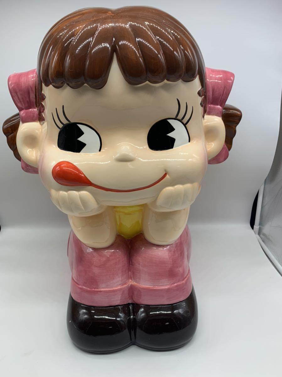 不二家 ジャンボペコちゃん人形 陶器製 非売品_画像1