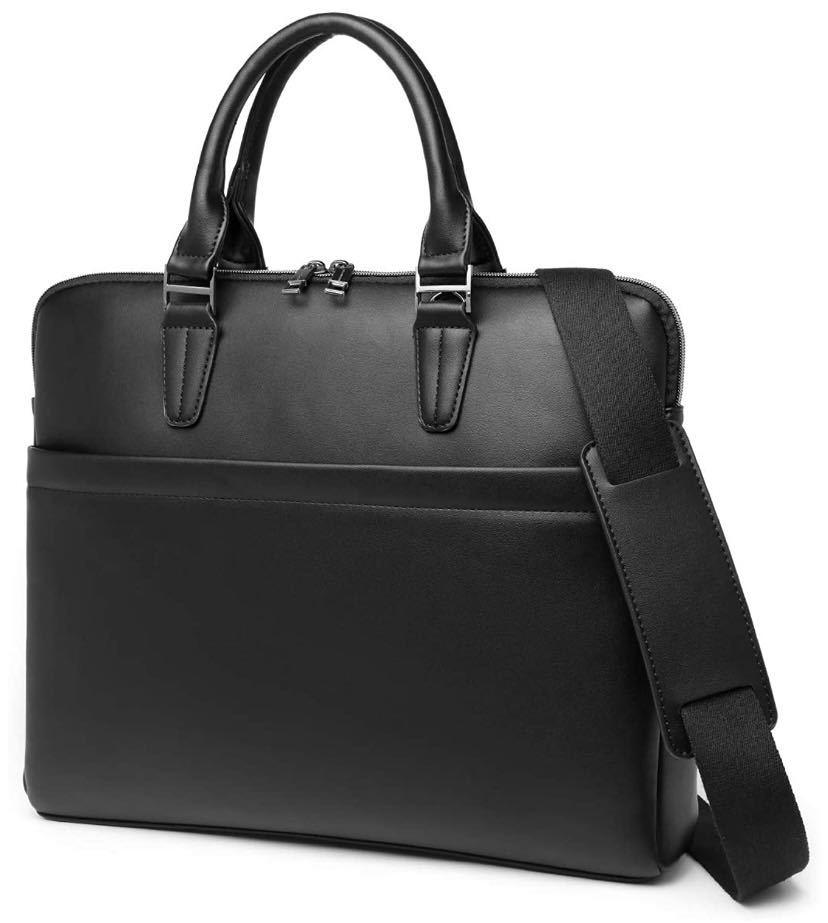 ビジネスバッグ ブリーフケース トートバッグ バレンタインデー メンズ 大容量 A4対応 14インチPC対応 就活 ビジネス PUレザー