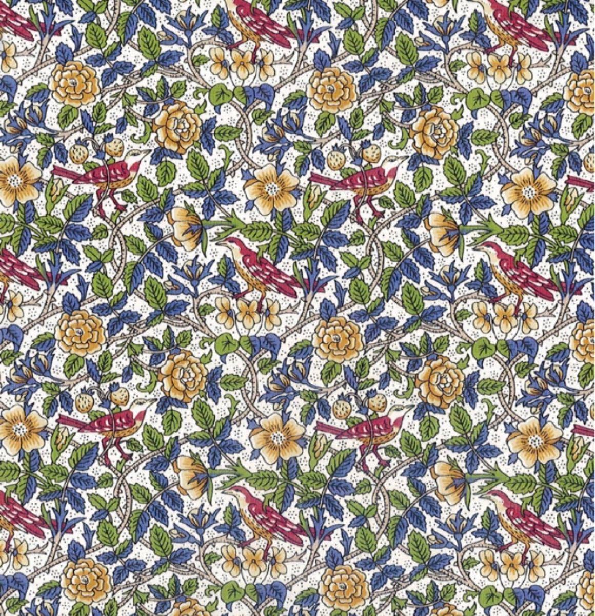 リバティ ストロベリーツリーグリーン 生地幅×200cm 国産タナローン