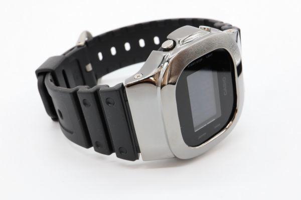カスタムGショック シルバー製 DW-5600BB-1JF ブラック 鏡面加工 鑑定済 シルバー鑑定済 純銀 G-SHOCK メンズ_画像8