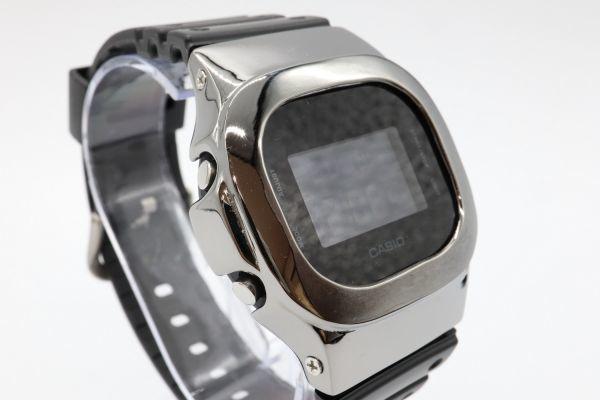 カスタムGショック シルバー製 DW-5600BB-1JF ブラック 鏡面加工 鑑定済 シルバー鑑定済 純銀 G-SHOCK メンズ_画像5