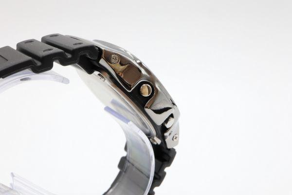 カスタムGショック シルバー製 DW-5600BB-1JF ブラック 鏡面加工 鑑定済 シルバー鑑定済 純銀 G-SHOCK メンズ_画像7