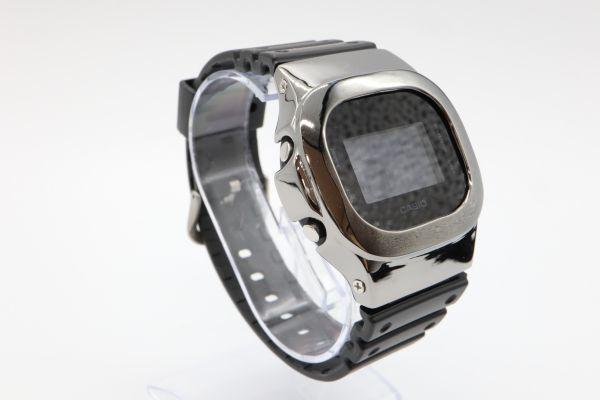 カスタムGショック シルバー製 DW-5600BB-1JF ブラック 鏡面加工 鑑定済 シルバー鑑定済 純銀 G-SHOCK メンズ_画像4