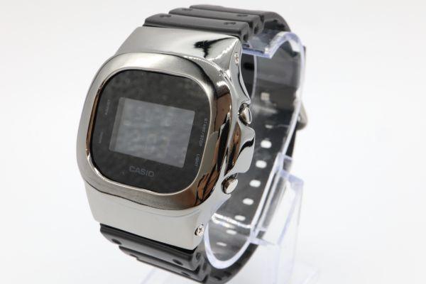 カスタムGショック シルバー製 DW-5600BB-1JF ブラック 鏡面加工 鑑定済 シルバー鑑定済 純銀 G-SHOCK メンズ_画像2