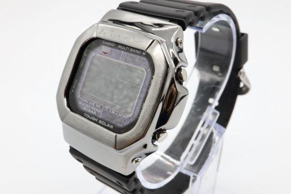 カスタムGショック GW-M5610 シルバー925 ブラック 鏡面加工 鑑定済 シルバー製ベゼル 純銀 メンズ カスタムベゼル G-SHOCK_画像2