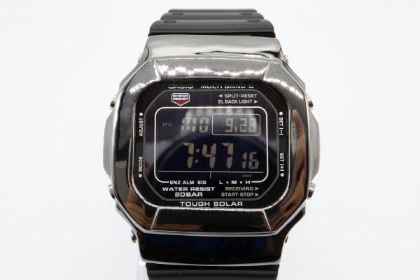 カスタムGショック GW-M5610 シルバー925 ブラック 鏡面加工 鑑定済 シルバー製ベゼル 純銀 メンズ カスタムベゼル G-SHOCK_画像5