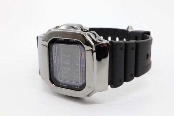 カスタムGショック GW-M5610 シルバー925 ブラック 鏡面加工 鑑定済 シルバー製ベゼル 純銀 メンズ カスタムベゼル G-SHOCK_画像7