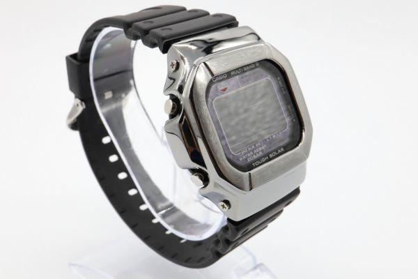 カスタムGショック GW-M5610 シルバー925 ブラック 鏡面加工 鑑定済 シルバー製ベゼル 純銀 メンズ カスタムベゼル G-SHOCK_画像3