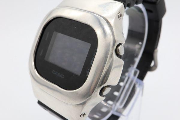 カスタムGショック DW-5600BB-1JF ヴィンテージ加工 シルバー925 鑑定済 純銀 メンズ G-SHOCK カスタムベゼル_画像2