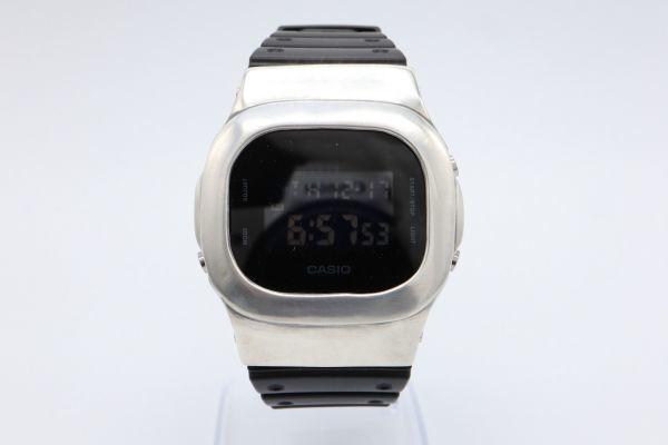 カスタムGショック DW-5600BB-1JF ヴィンテージ加工 シルバー925 鑑定済 純銀 メンズ G-SHOCK カスタムベゼル_画像5