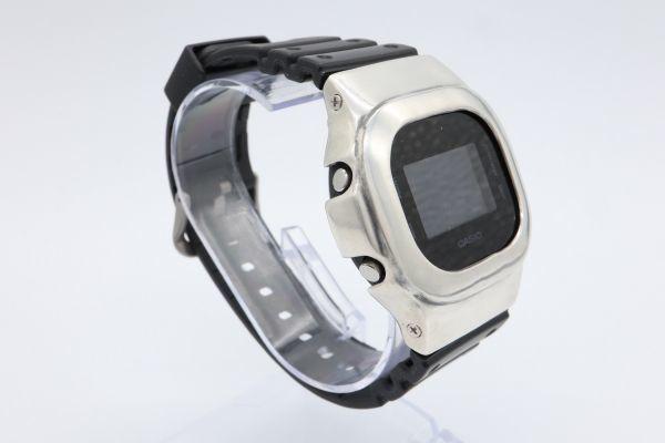 カスタムGショック DW-5600BB-1JF ヴィンテージ加工 シルバー925 鑑定済 純銀 メンズ G-SHOCK カスタムベゼル_画像4
