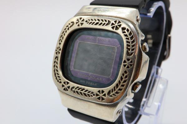 カスタムGショック BGD5000 シルバー925 ベビーG カレン伝統模様 リーフ 鑑定済 シルバー製ベゼル カスタムベゼル 純銀 G-SHOCK_画像2