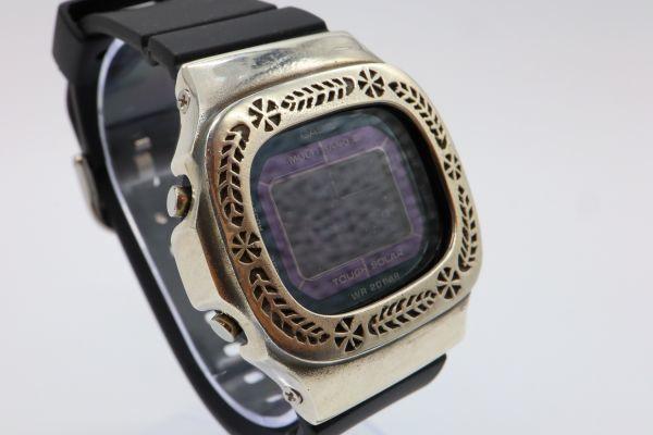 カスタムGショック BGD5000 シルバー925 ベビーG カレン伝統模様 リーフ 鑑定済 シルバー製ベゼル カスタムベゼル 純銀 G-SHOCK_画像4