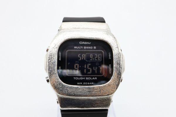 カスタムGショック BGD5000 シルバー925 ベビーG ヘアライン 鑑定済 シルバー製ベゼル カスタムベゼル 純銀 G-SHOCK_画像5