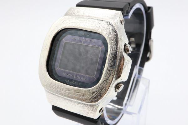 カスタムGショック BGD5000 シルバー925 ベビーG ヘアライン 鑑定済 シルバー製ベゼル カスタムベゼル 純銀 G-SHOCK_画像2