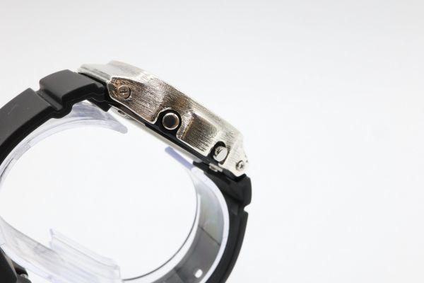 カスタムGショック BGD5000 シルバー925 ベビーG ヘアライン 鑑定済 シルバー製ベゼル カスタムベゼル 純銀 G-SHOCK_画像6