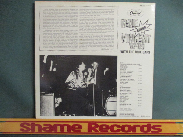 Gene Vincent : Sings '57-'59 With The Blue Caps LP // ロカビリー Rock-A-Billy Rockabilly / 落札5点で送料無料_画像2