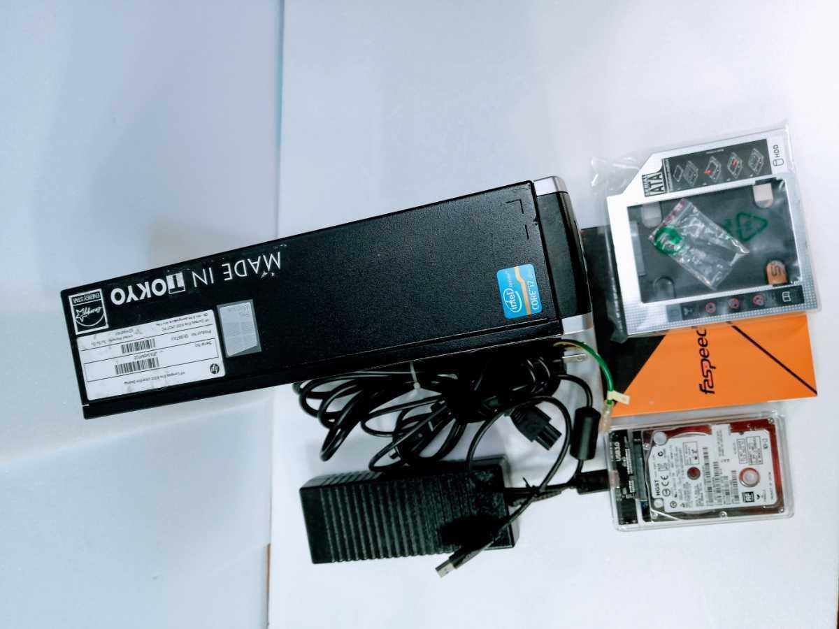 【小型超高性能core i7】Hp Elite8300usdt core i7-3770s メモリ8GB(Micron製4gb×2)(ssd240GB新品保証書有)外付けHDD&ケースwin10pro他_画像4