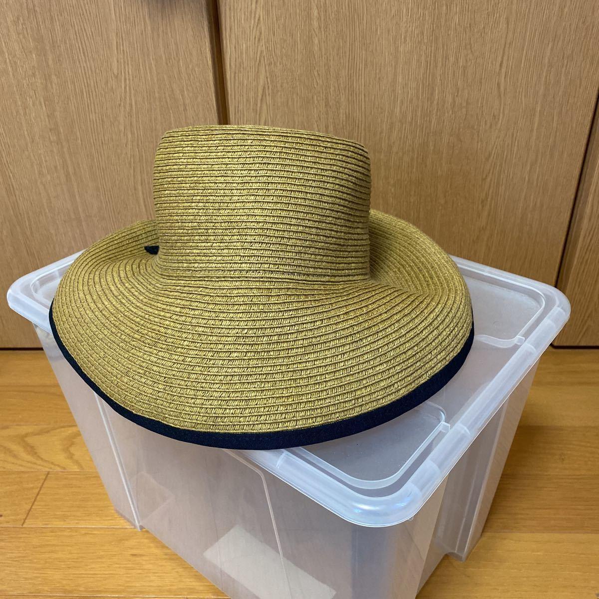 新品・未使用★レイビームス Ray Beams 帽子 リボン付き麦わら帽子★サイズ57.5㎝_画像7