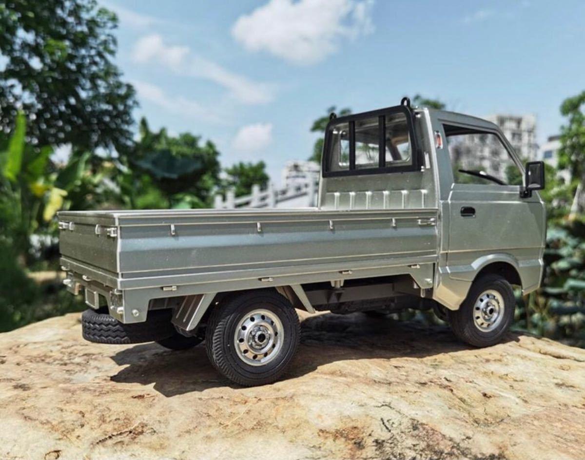 新品 ★大人気 軽トラ ラジコン WPL D12 トラック シルバー キャリー
