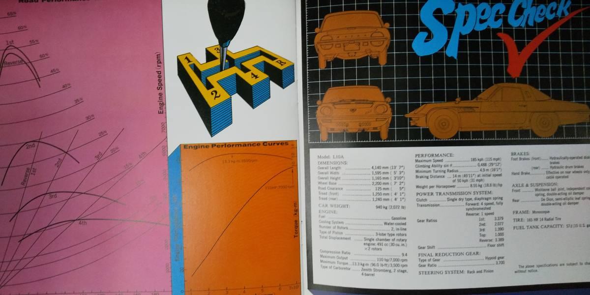 希少 復刻版 MAZDA 110S(コスモスポーツ)輸出用英文カタログ _画像4