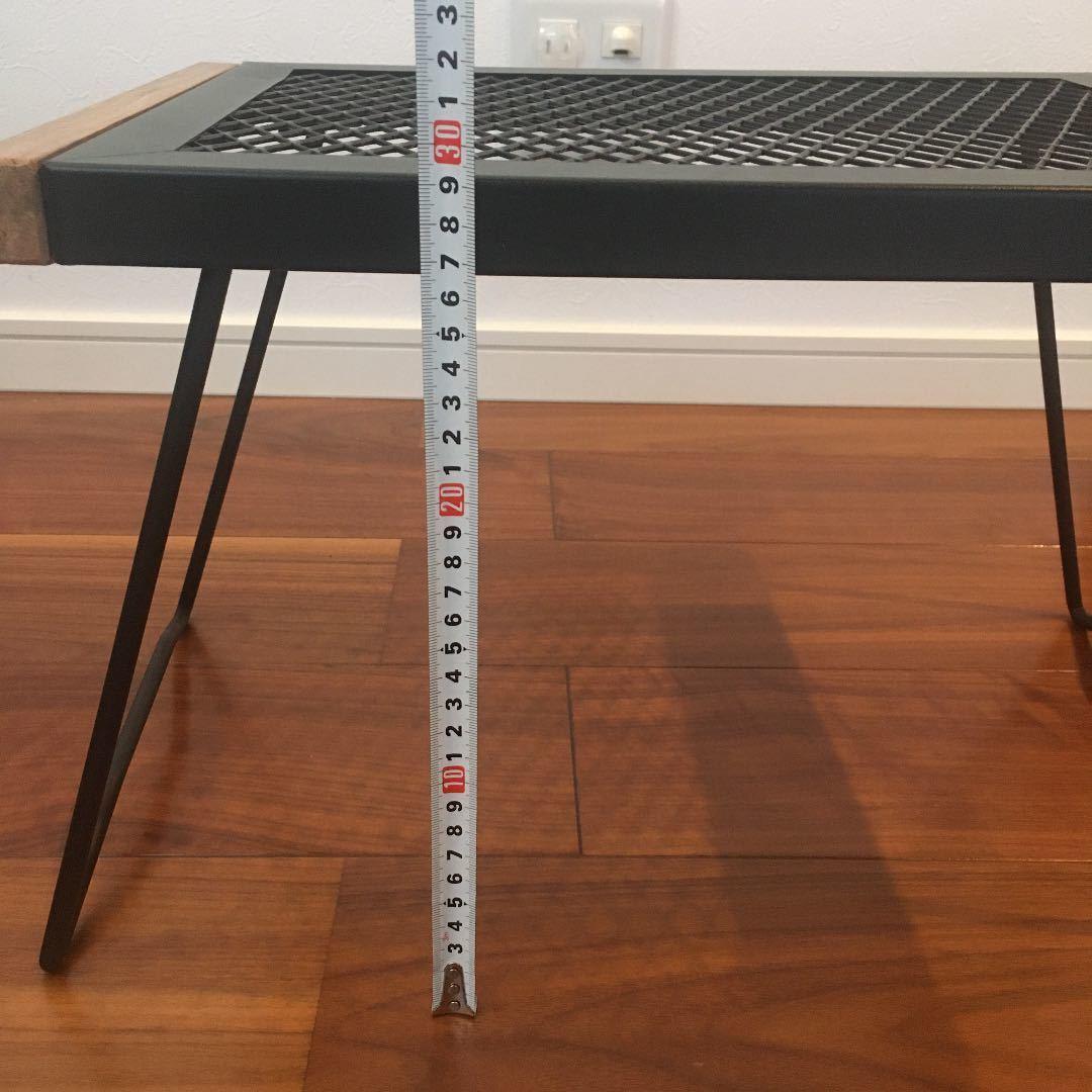 ★早い物勝ち★ 残りわずか アイアンメッシュテーブル 焚き火テーブル ソロテーブル