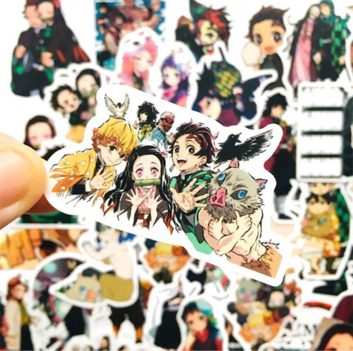 【鬼滅の刃】ステッカー シール 50枚セット 防水  Sticker