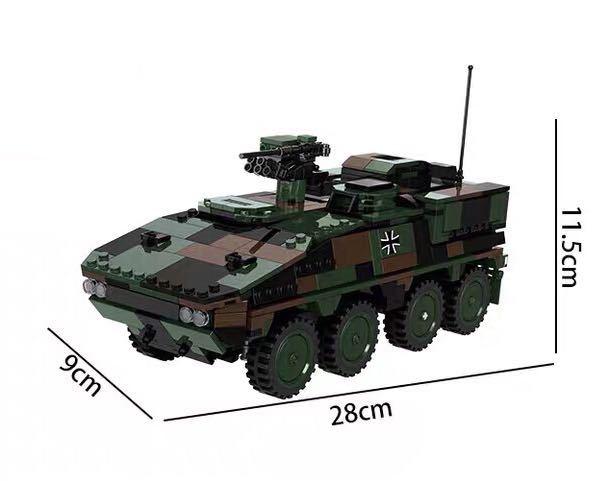 戦車 ミニフィグ レゴ 互換 LEGO 互換 テクニック フィギュア gtk ボクサー装輪装甲車_画像3