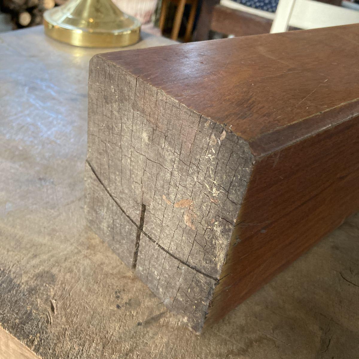 古い 重量木 素材 ナイフメイキング 木 堅い木 6.46kg 長さ50cm _画像2