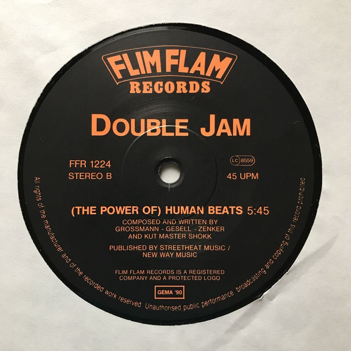 【r&b】Double Jam / The Power Of Human Nature[12inch]オリジナル盤《9595》