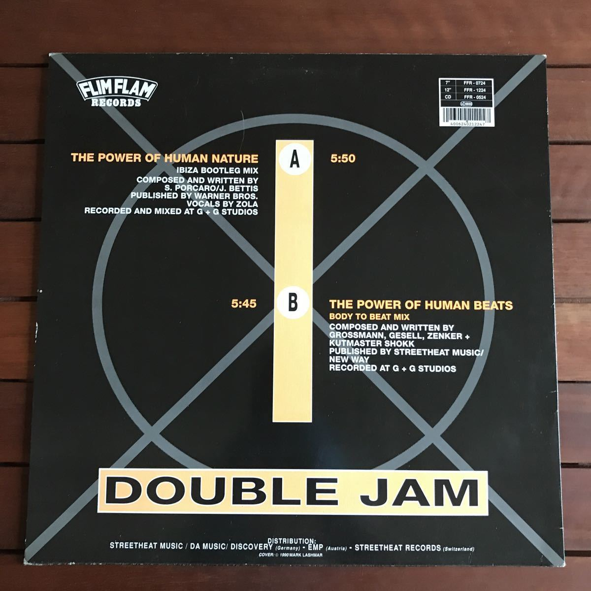 ●【r&b】Double Jam / The Power Of Human Nature [12inch]オリジナル盤
