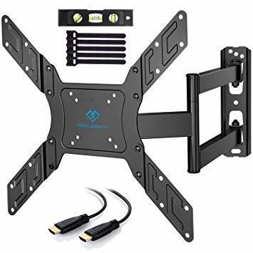 ブラック PERLESMITH テレビ壁掛け金具 アーム式 23-55インチ対応 耐荷重45kg LCD LED 液晶テレビ用 _画像1