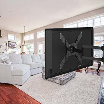 ブラック PERLESMITH テレビ壁掛け金具 アーム式 23-55インチ対応 耐荷重45kg LCD LED 液晶テレビ用 _画像6
