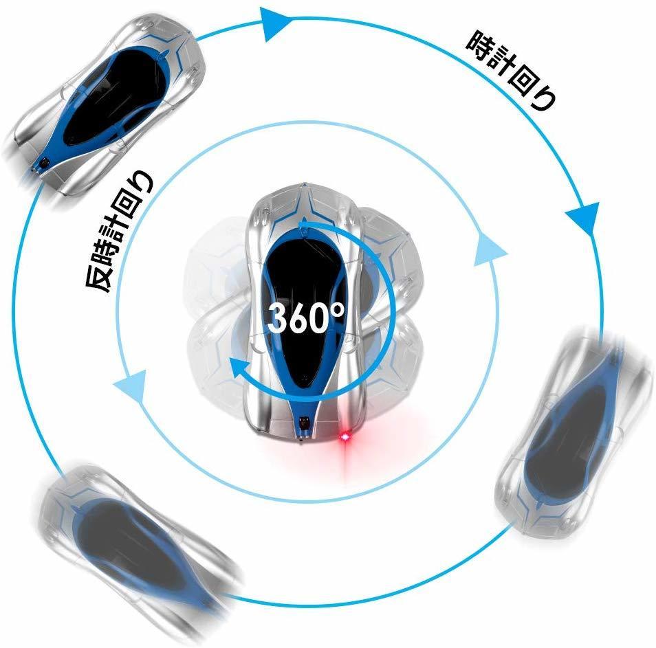 新品未使用送料無料 ラジコンカー 車のおもちゃ 壁を走る車 無線操作 室内 壁・天井・床 激走カー LED搭載 360度回転