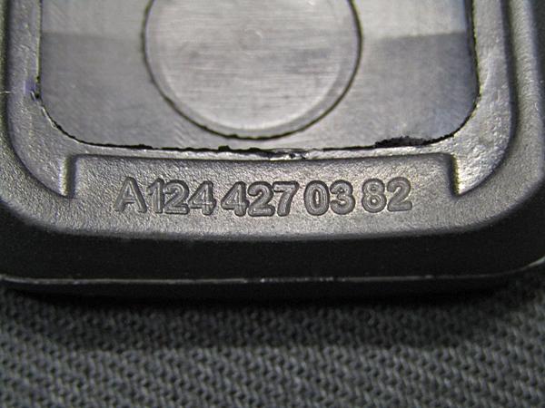 ★ベンツ純正品 サイドブレーキペダルゴムカバー(A1244270382) BENZ W202/W203/W204/W124/W210/W140/W220/R129/W218/W219/W638/W639等_製品記載の刻印になります