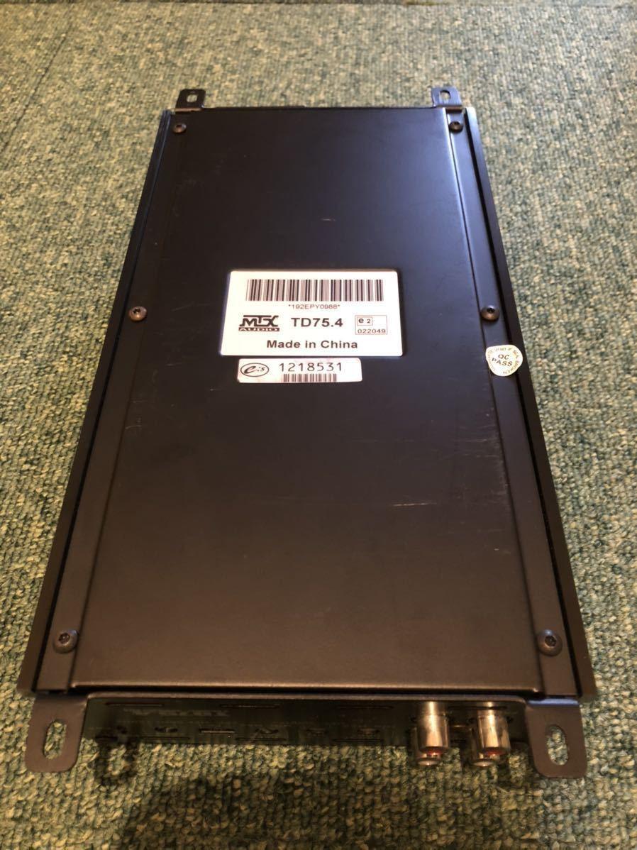 MTX audio TD75.4 エムティーエックスオーディオ カーアンプ 4ch アンプ TDシリーズ カスタム アメ車 USDM ロックフォード_画像6